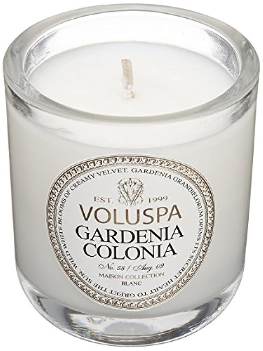 麺一晩惨めなVoluspa ボルスパ メゾンブラン ミニグラスキャンドル ガーデニアコロニア MAISON BLANC Mini Glass Candle GARDENIA COLONIA