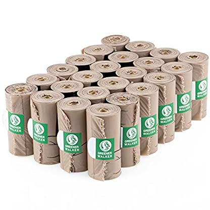 Greener Walker Poo Bags for Dog Waste, 360 Poop Bags,Extra Thick Strong 100% Leak Proof Biodegradable Dog Poo Bags (Brown) 3