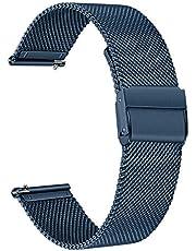 TRUMiRR Band compatibel met Huawei Watch GT 2 42mm/HONOR MagicWatch 2 42 mm riem, mesh geweven roestvrij stalen horlogeband Quick Release Strap polsband voor Huawei Watch GT2 42mm Smartwatch