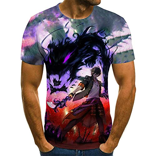 T-fashion shop Nuevo en 2021,Animado de Dibujos Animados Moda Camiseta Casual Verano Cuello Redondo Manga Corta-mi_XXS