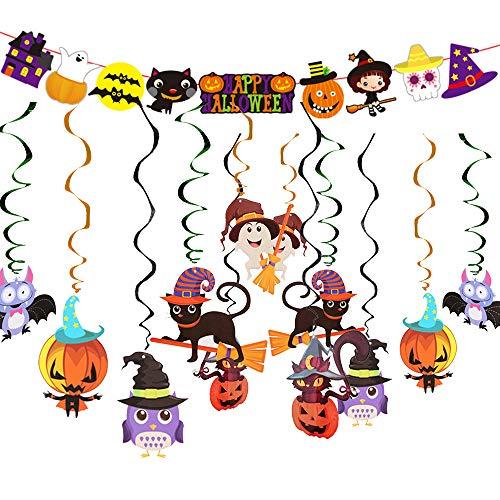 Decoración de Halloween, Calabaza Araña Ghost Decoración Fiesta Suministros y Decoración Globo para Hombres y Mujeres Adultos Decoración de Fiesta