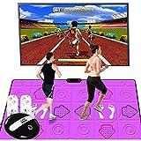 XYW Alfombra de Baile Doble PU Canciones Y Juegos Manta de Masaje Casa Educación Modo De Anime HD Alfombra 3D Máquina De Juego Somatosensorial para niños y Adultos