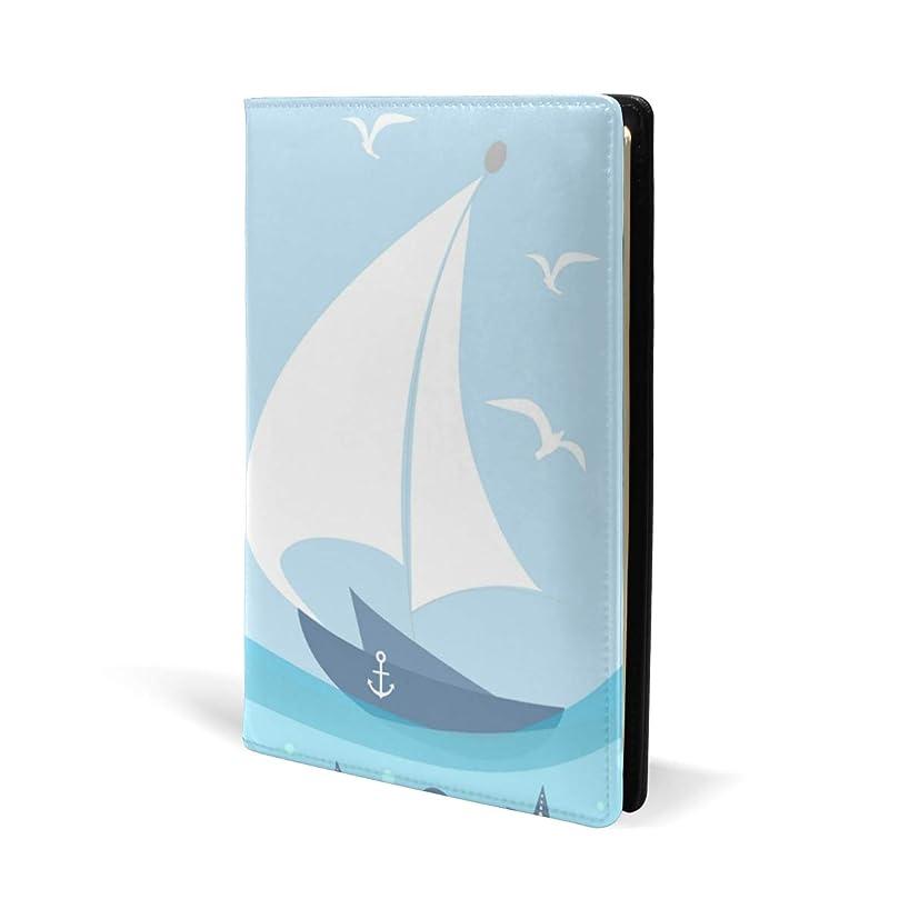 サラダ臨検香ばしいブックカバー a5 船 サメ 航海 文庫 PUレザー ファイル オフィス用品 読書 文庫判 資料 日記 収納入れ 高級感 耐久性 雑貨 プレゼント 機能性 耐久性 軽量