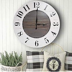 Cora 24 Inch Farmhouse Wall Clock - Farmhouse clock - rustic clock - oversized wall clock - big clock - large clock - farmhouse decor - rustic decor -