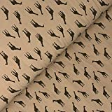 Verhees Baumwolle Giraffe auf beige - Stoff - Meterware -
