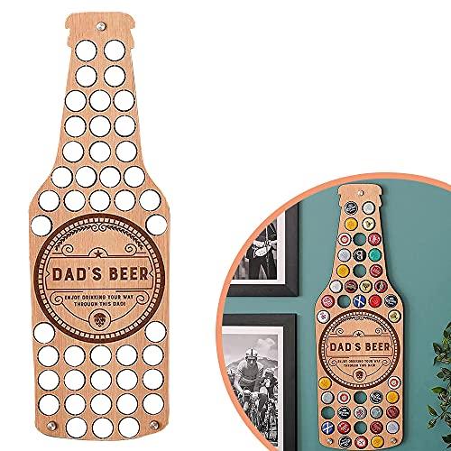 ENTER&RELIEVE Bierkarte, Bierdeckel Sammler für die Wand, Biergeschenke für Männer, Personalisierte Wandkunst für Bierflaschen für zu Hause (Bierflasche)