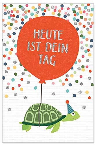 ARTEBENE Grußkarte Geburtstagskarte Glückwunschkarte B6 Präge Kinder Kids Schildkröte