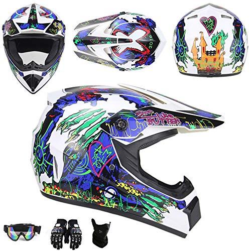 baratos y buenos Casco de motocross HXCZ JCLDG, con visera, casco de cross adulto, casco de enduro MTB incorporado… calidad
