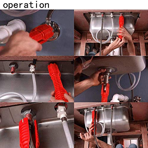 (8-in-1) faucet and sink installer,multi-purpose wrench plumbing tool for Toilet Bowl/Sink/Bathroom/Kitchen Plumbing and more (red)