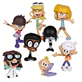 The Loud House Figure 8 Pack - Lincoln, Clyde, Lori, Lily, Leni, Lucy, Lisa, Luna - Action Figure Toys from The Nickelodeon TV Show - Ages 4+
