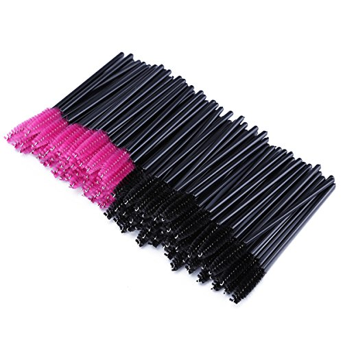 Lot de brosses à cils jetables, pinceau goupillon applicateur de mascara et brosse à sourcils
