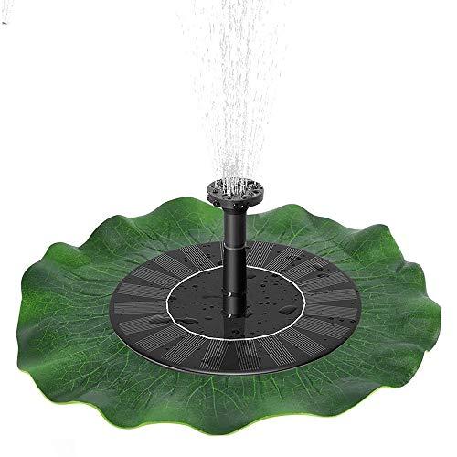 JJZXZQ Floating Solar Wasser Brunnen, Pond Brunnen, Freistehende Vogelbad Brunnen mit 4 Düsensatz, Wasserzirkulation Tauchpumpe Kits
