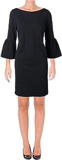 Lafayette 148 New York Womens Bell Sleeves Boatneck Wear to Work Dress