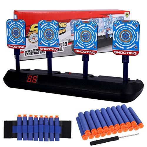 Aoliandatong Elektronische Digitale Zielscheibe für Nerf, Automatisches Zurücksetzen, Elektro-Schießscheiben für Nerf Guns N-Strike Elite/Mega/Rival-Serie, Digitale Ziele mit hellem Soundeffekt