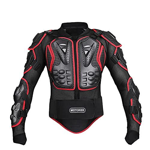 MOTOKER Motorrad Ganzkörperpanzerung Schutzjacke Rennjacke Sport Motocross Wirbelsäule Brust Motocross (S)