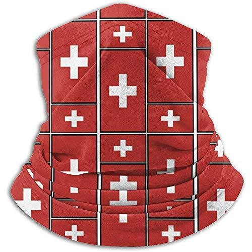 Linger In Schweiz Flagge Puzzle Halswärmer Kopfbedeckung Gesicht Schal Unisex