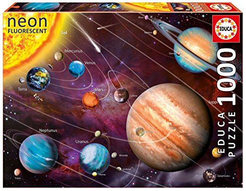 Educa - Sistema solar Neon Puzzle, 1000 Piezas, multicolor (14461)