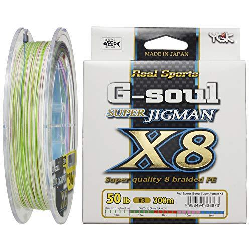 よつあみ(YGK) PEライン Gソウル スーパージグマン X8 300m 3号 50lb 8本 5色