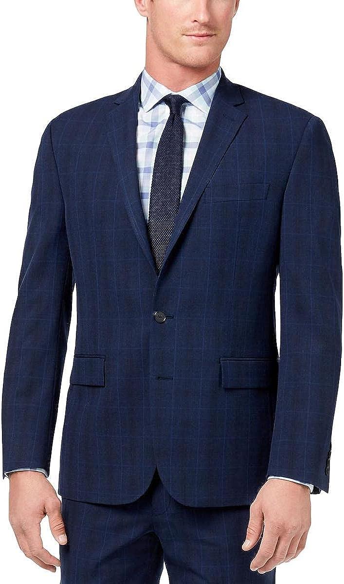 Ryan Seacrest Distinction Mens Windowpane Suit Separate Blazer