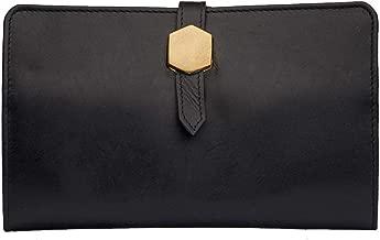 Hidesign Travel Wallet -001 for Women - Genuine Leather, Black