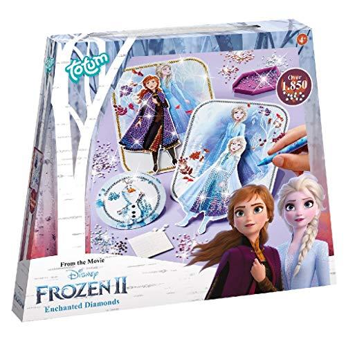 Frozen II 680722 - Juego de manualidades con diamantes (tarjetas 3D de Anna & ELSA y Olaf con hermosas piedras brillantes, regalo para niños, multicolor) , color/modelo surtido