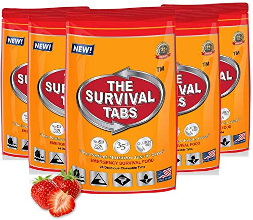 Survival Tabs 15-Day Food Supply Emergency Food Ration