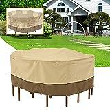 MYAMIA Garden Round Impermeable Table Cover Patio Al Aire Libre Juego De Muebles Shelter Protection