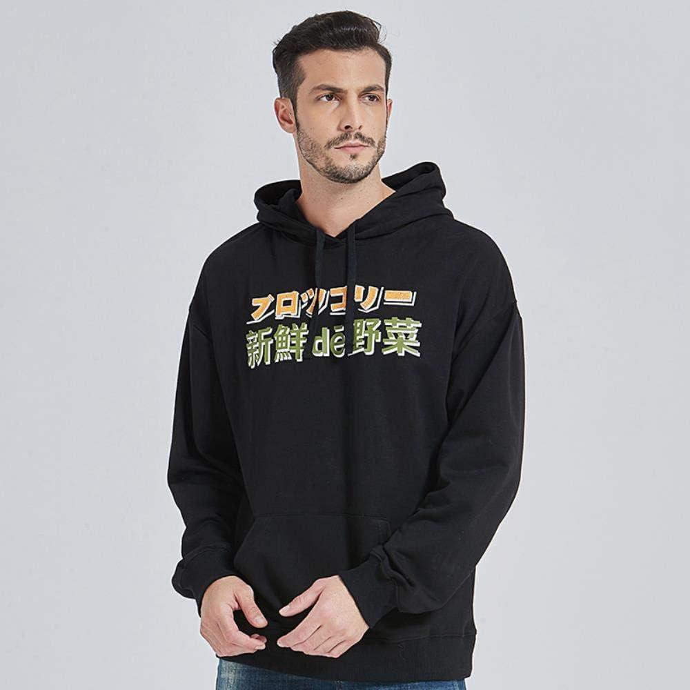 XIELH Hommes Hip Hop À Capuche Sweat Monster Harajuku À Capuche Streetwear Drôle Automne Coton À Capuche Pull Noir Noir