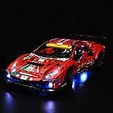 "LIGHTAILING Light Set for (Technic Ferrari 488 GTE ""AF Corse 51"") Building Blocks Model - Led Light kit Compatible with Lego 42125(NOT Included The Model)"