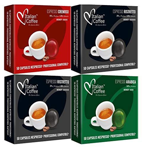 Nespresso Profesional Capsulas Compatibles - Degustación 3 Variedades - 200 cafés