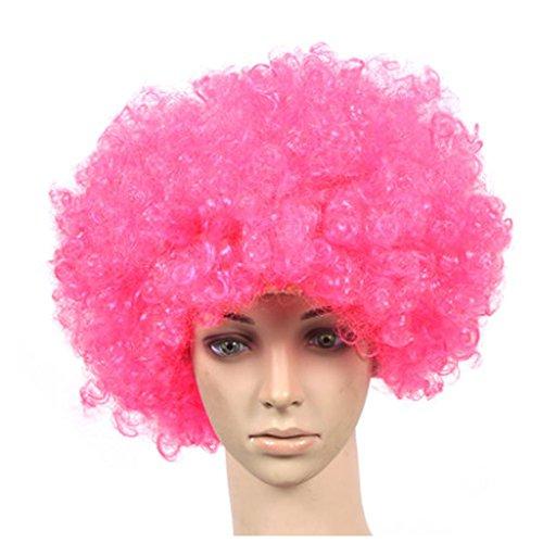 Lot de 2 Halloween Costume Party Clown Perruques cheveux, Rose