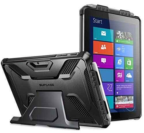 SupCase[UB Pro Series] Case for Microsoft Surface Go 10 inch 2018 / Surface Go 2 10.5 inch 2020, Full-Body Kickstand Rugged Protective Case(Black)