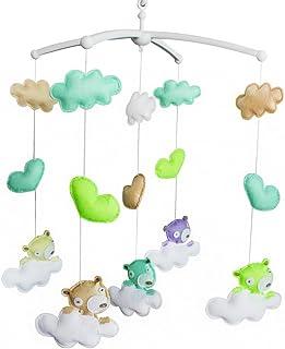 Décoration de pépinière en tissu non tissé Mobile berceau fait main Cadeau de douche 15