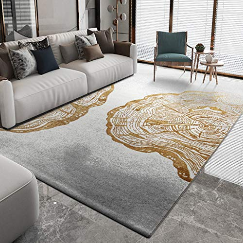 QFW Durable Bedroom Rugs Abstract Art Rugs Rectangle Loom Rugs Color Block Geometric Blue Art Rugs for Home Living Room Bedroom Decor(Color:B,Size:200290cm)
