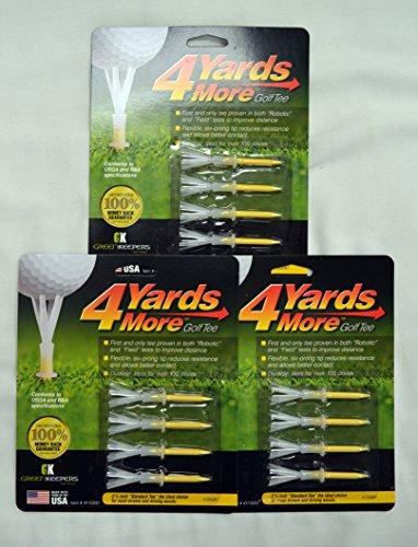 """4 Yards More Golf Tee (2 3/4"""") 3 Pack (12 Tees)"""