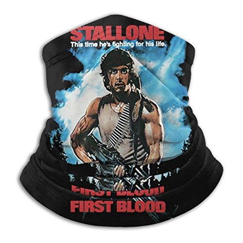 power1 First Blood 1982 Action Abenteuer Film Rambo Stallone Darsteller Design Outdoor Schal Bandana Windproof Breathable Dustproof Washable Black