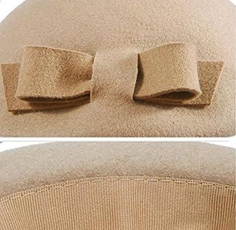 SHINA 2016 Originelles Design Barett Hut Elegant Damen Wollfilz Hut Herbst Winter Mode