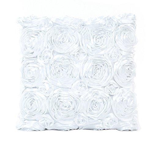 KEERADS Taie d'oreiller Oreiller Canapé Taille Jeter Coussin Couverture Couleur Unie Élégant Rose Accueil Décor Coussin Couverture Cas