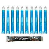 Cyalume Barra de luz azul militar ChemLight Lightsticks 15cm, Luz Sticks muy brillantes con duración de 8 horas (Caja de 10)