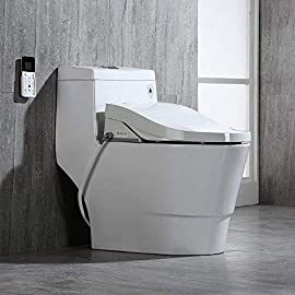 Woodbridgebath Woodbridge Luxury, Elongated One Piece Advanced Seat, T-0008, Bidet with Toilet 1 <p>✅Including Woodbridge bath one piece toilet and bidet seat bidet seat fit the toilets perfect ✅Sleek low profile skirted elongated toilet comfort height water sense high-efficiency ✅Advanced bidet seat- smart toilet seat with temperature controlled wash functions and air dryer ✅The self-cleaning nozzle extends to release a warm soothing stream of aerated water ✅Seat temperature can be adjusted with 5 levels to achieve maximum comfort ✅ 2-year limited manufacture</p>