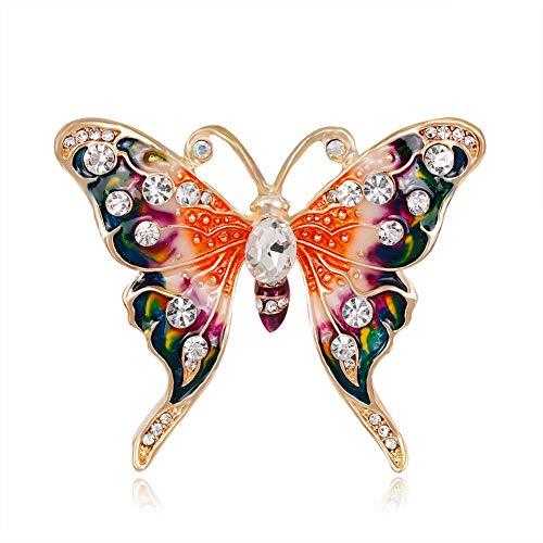 Demiawaking Damen Frauen Legierungs Diamant bestückte nett Tier Kristall Brosche (6)