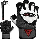 RDX Fitness Handschuhe Trainingshandschuhe Handgelenkschutz Sporthandschuhe Gewichtheben Rindsleder...