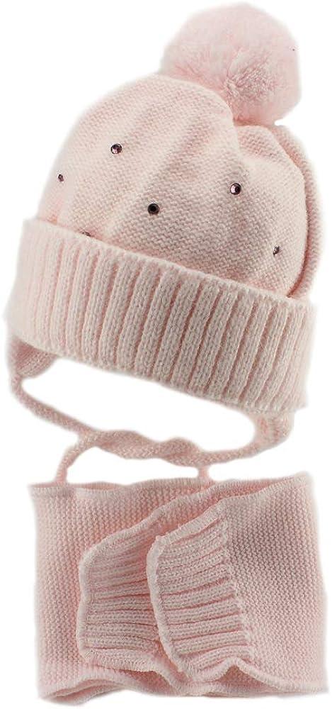 Marika Baby Girl Warm Winter Ear Flap Beanie Hat (Little Stars)