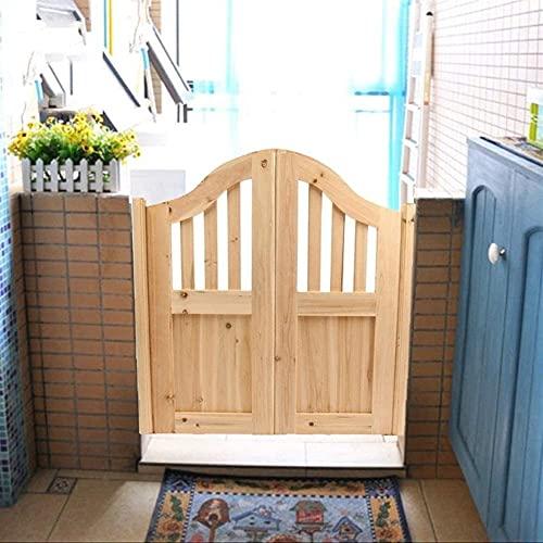 Interior Doors Spindle-Top Cafe Door Unfinished Simple Panel Saloon Doors Wood Cowboy Doors For Any 32- 40 inch Door Opening, Pet Gate Archway Style Saloon Door Customizable Size Swinging Doors