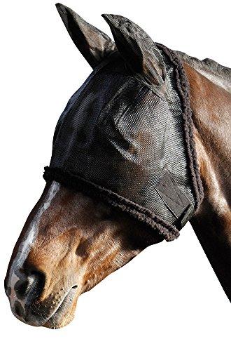 Harry's Horse 31300001 Fliegennetz Gesichtsmaske Inklusiv Ohren mit Syntetic Fell, XL