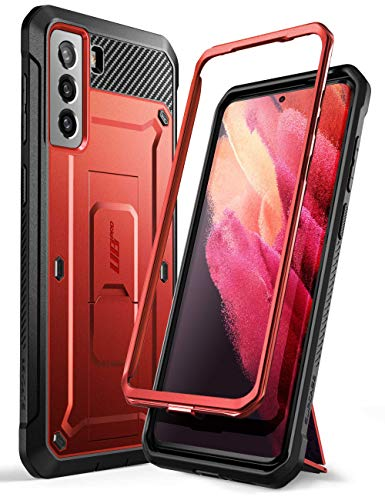 SUPCASE Unicorn Beetle Pro Series Case Designed for Samsung Galaxy S21 5G (2021 Release), Full-Body Dual Layer Rugged Holster & Kickstand Case Without Built-in Screen Protector (Ruddy)