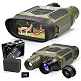 """BNISE Night Vision Binoculars Digital Infrared Camera for Hunting - 1300ft Night Vision Googgles with 32G TF Card 4"""" LCD Screen for Wildlife Day and Night 100% Darkness"""