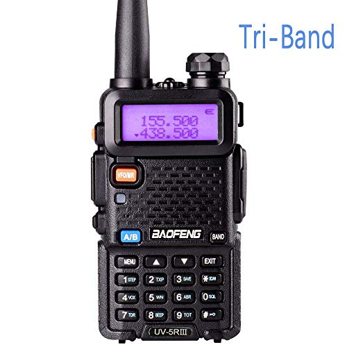 Tri-Band Radio Baofeng Radio Series Walkie Talkies UV-5RX3 VHF 1.25M UHF Amateur Handheld Ham Two Way Radios with Earpiece and Mic (Includes Dual Band Antenna, 220 Antenna) by LUITON