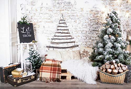 Fondos de fotografía habitación árbol decoración de Fiesta Pared de ladrillo Gris bebé Juguete Alfombra Cortina Foto Fondo para Estudio fotográfico A1 3x3m