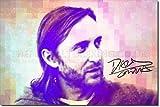David Guetta Kunstdruck (mit signierter Autogramm